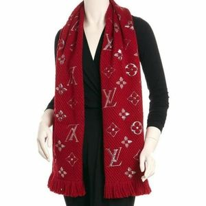 Louis Vuitton Black Logomania Shine Scarf BrandNew